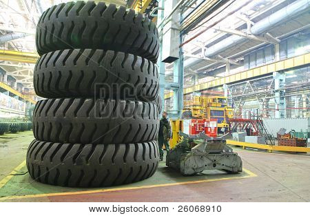Giant size wheels and tires poster