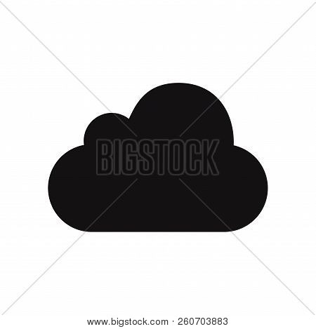 Cloud Icon Isolated On White Background. Cloud Icon In Trendy Design Style. Cloud Vector Icon Modern