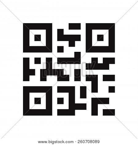 Qr Code Icon Isolated On White Background. Qr Code Icon In Trendy Design Style. Qr Code Vector Icon