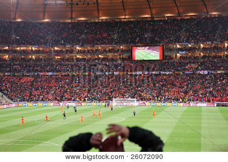 JOHANNESBURG - JULY 11 : Final at Soccer City Stadium: Spain vs. Netherlands on July 11, 2010 in Johannesburg. Supporters watching the final match
