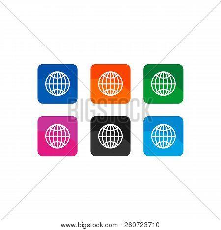 Globe Icon Simple Vector Sign And Modern Symbol. Globe Vector Icon Illustration, Editable Stroke Ele