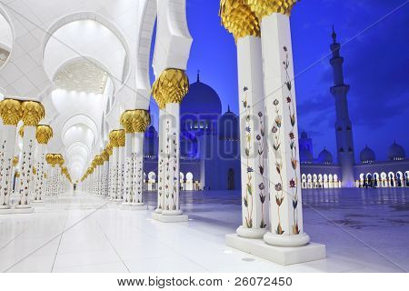 Interiors of Sheikh Zayed Mosque, Abu Dhabi, United Arab Emirates
