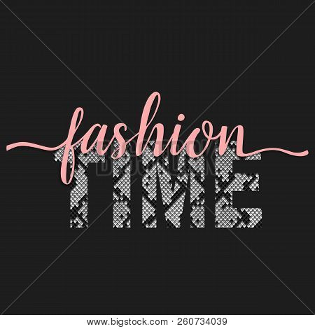 Fashion Time T-shirt Fashion Print With Snakeskin