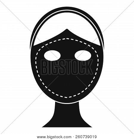 Face Marked Out For Cosmetic Surgery Icon. Simple Illustration Of Face Marked Out For Cosmetic Surge
