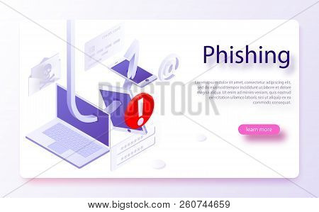 Internet Phishing, Hacked Login And Password. Hacking Credit Card Or Personal Information Website. C