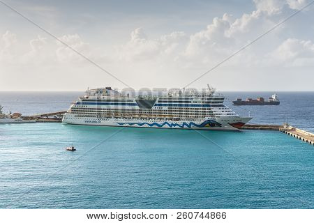 Bridgetown, Barbados - December 18, 2016: Aida Diva Cruise Ship Operated By The German Cruise Line A