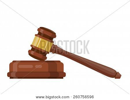 Wooden Judge Ceremonial Hammer Of The Chairman For Adjudication Of Sentences And Bills, Court, Justi
