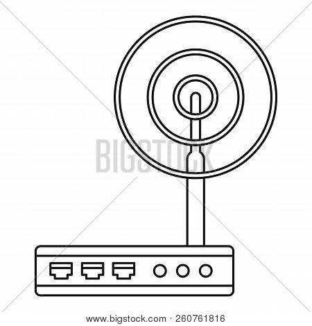 Wifi Router Icon. Outline Illustration Of Wifi Router Icon For Web
