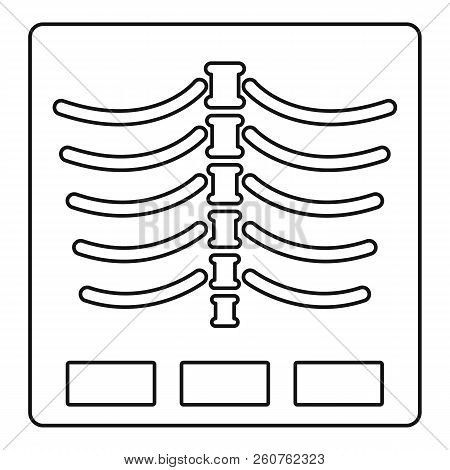X Ray Photo Icon. Outline Illustration Of X Ray Photo Icon For Web
