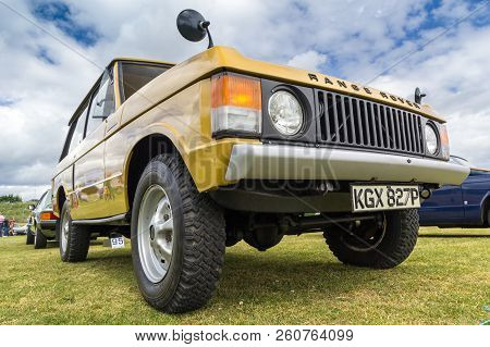 TAIN, SCOTLAND - June 17 2018: Classic Range Rover at a vintage car rally