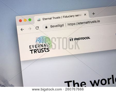 Amsterdam, The Netherlands - September 30, 2018: Website Of Eternal Trusts, A Platform Providing Cry