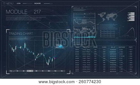 Beautiful With Hud For Web Design. Stock Market Background Design. Financial Stock Market. Hud Inter