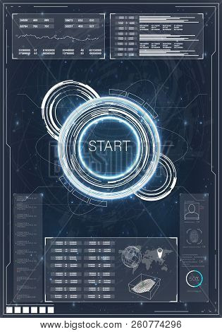 Hud. Hud, Great Design For Any Purposes. Computer Game Competition. Smartphone Gaming. Futuristic Ve