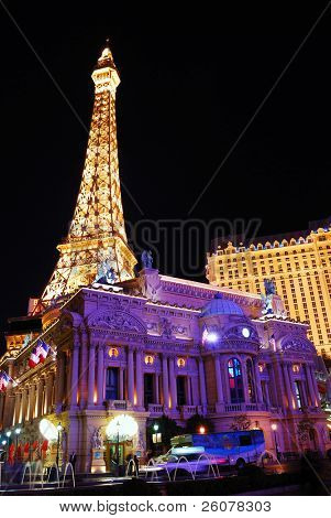 LAS VEGAS, NV - MAR 4: Paris Las Vegas hotel and Casino is featured with the theme of Paris in France on March 4, 2010 in Las Vegas, Nevada.