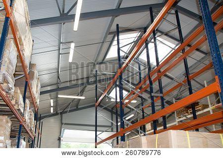 Stocked Warehouse Storage Cardboard Boxes Industry Package Rack