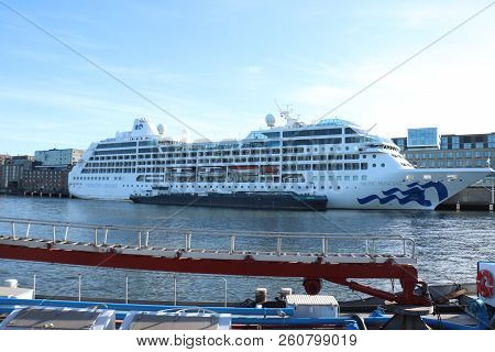 Amsterdam, The Netherlands - September 29th 2018: Pacific Princess Docked At Passenger Terminal Amst