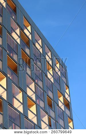 Amsterdam, The Netherlands - September 29th 2018: Hotel Jakarta Exterior. Hotel Jakarta Is A Sustain
