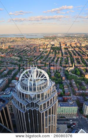 BOSTON, MA - JUN 20: Prudential Tower with city skyline on June 20, 2011 in Boston, Massachusetts. Prudential Tower is the 2nd-tallest building in Boston and 26th in the US as famous city landmark.