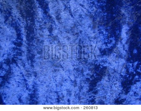 blue crushed velvet cloth poster