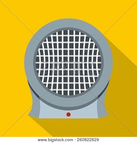 Portable Electric Heater Icon. Flat Illustration Of Portable Electric Heater Icon For Web Isolated O