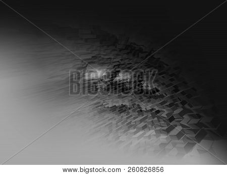 Abstract  Black And White  3d Rendered Illustration Background For Design