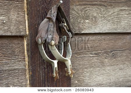 Old rowels spurs hung up