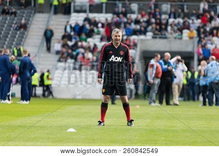 September 25th, 2018, Cork, Ireland - Denis Irwin During The Warm Up On The Pairc Ui Chaoimh Pitch F