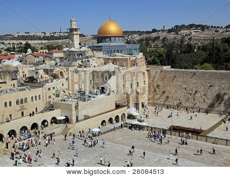 Jerusalem, Western Wall and Dome of the Rock