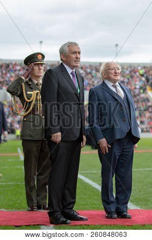September 25th, 2018, Cork, Ireland - Ireland President Michael D. Higgins At Pairc Ui Chaoimh Pitch