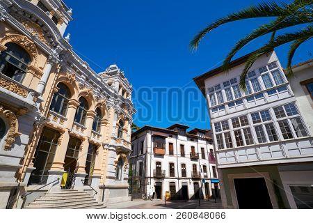 Llanes post office correos building in Asturias of Spain