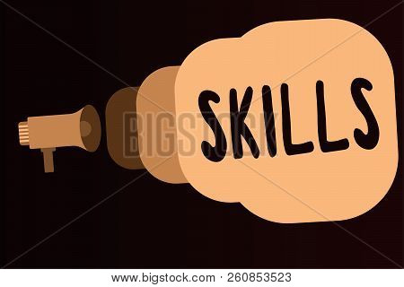 Handwriting Text Skills. Concept Meaning Ability To Do Something Well Expertise Getting Better In So