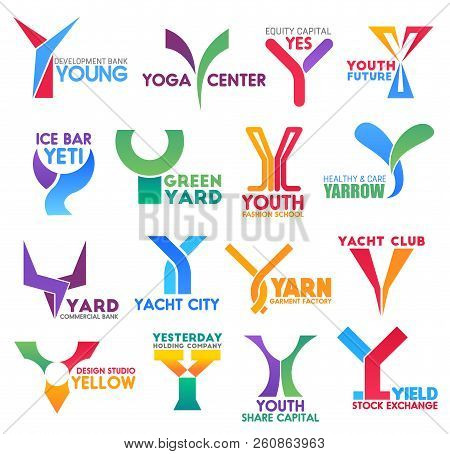 Letter Y For Brand Identity Or Company Corporate Design In Bank Development, Yoga Center Or Sport Ya
