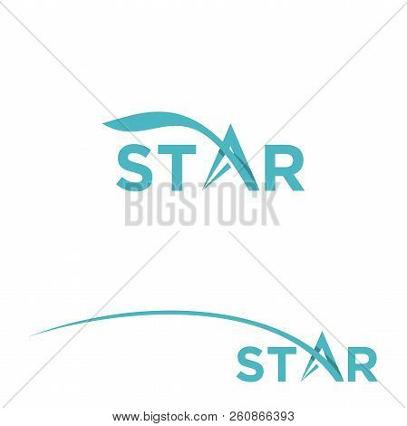 Star Wordmark Logo Design Template Vector Design Illustration