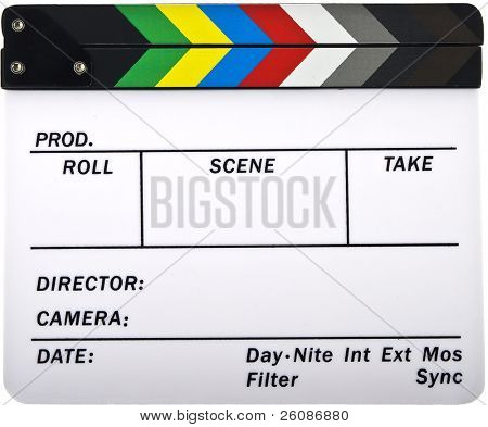 Newer closed clapboard isolated on white