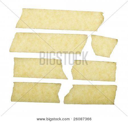 masking tape close up isolated on white