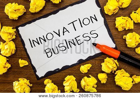 Writing Note Showing Innovation Business. Business Photo Showcasing Introduce New Ideas Workflows Me
