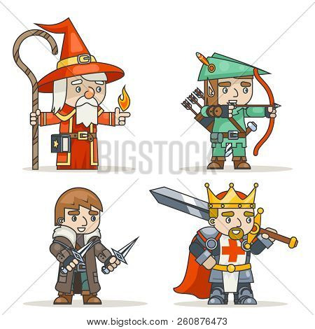 Mage Warlock Archer Sharpshooter Warrior King Thief Fantasy Medieval Action Rpg Game Character Isola