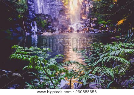 Fantasy Fairy Landscape - Wairoa / Te Wairere Waterfall In Kerikeri, Far North District, Northland,