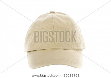 Tan Baseball Cap isolated on white