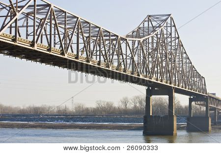 Bridge across the Mississippi at St. Louis