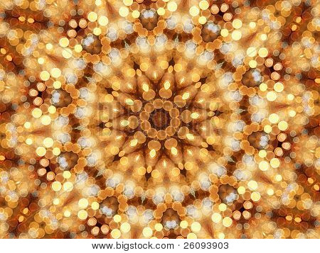 Mosaic Kaleidoscope Of Circular Lights