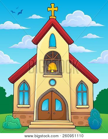 Church Building Theme Image 2 - Eps10 Vector Picture Illustration.