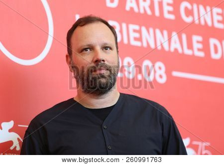Yorgos Lanthimos attends 'The Favourite' photocall during the 75th Venice Film Festival at Sala Casino on August 30, 2018 in Venice, Italy.