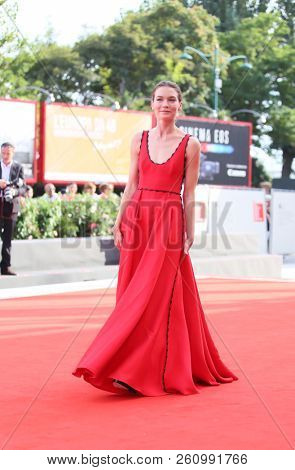 Hannah Gross walks the red carpet ahead of the 'The Mountain' screening during the 75th Venice Film Festival at Sala Grande on August 30, 2018 in Venice, Italy.