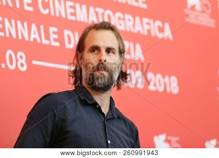Director Rick Alverson attends 'The Mountain' photocall during the 75th Venice Film Festival at Sala Casino on August 30, 2018 in Venice, Italy.