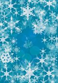 Abstract Christmas card with ice and snowflakes poster