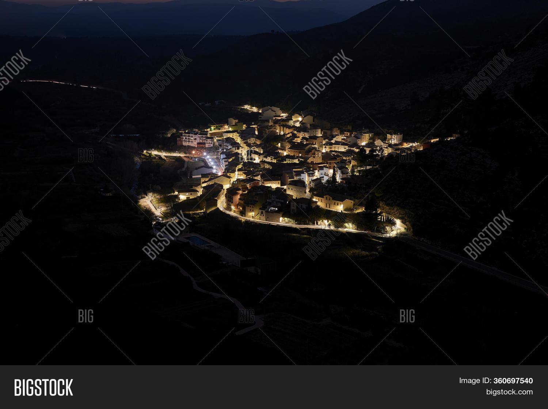 Mountain Village Above Image Photo Free Trial Bigstock