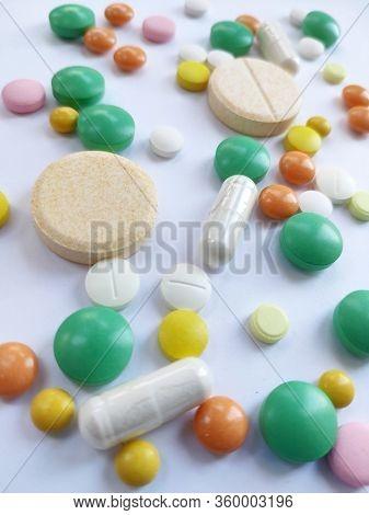 Colorful Pills, Medicine Background