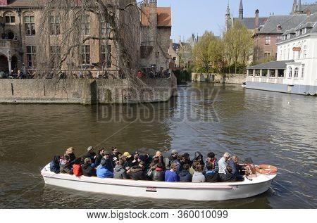Tourist Boat In Brugge