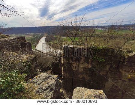 Rocks Of The Hessigheimer Felsengaerten Near Town Of Hessigheim